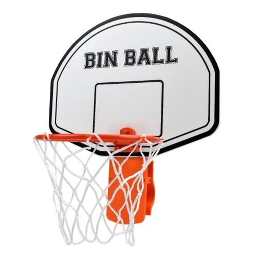 Basketball Hoop Trash Can Backboard Paper Wad Shoot Score Real Net Office Room Fun