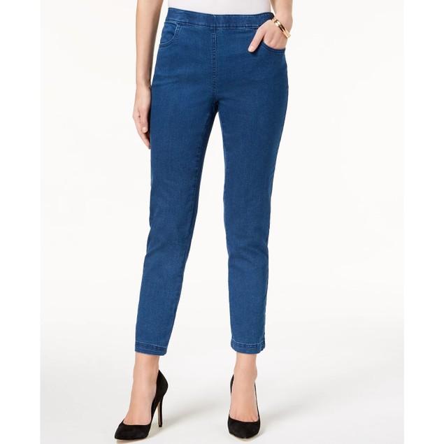 Karen Scott Women's Petite Pull-On Jeans Blue Size 44