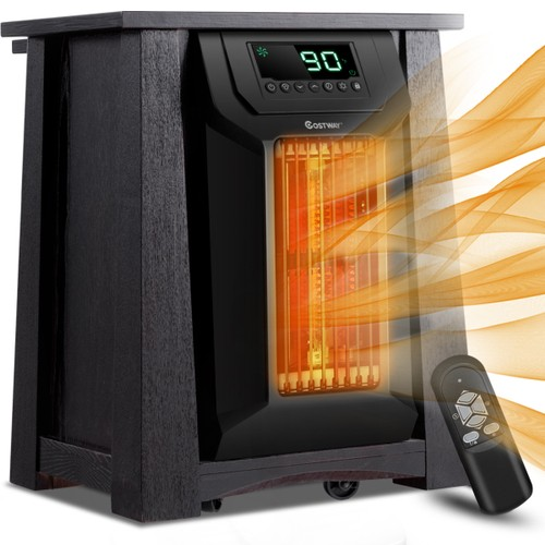 Costway Portable Electric Space Heater 1500W 12H Timer Caster Remote Contro