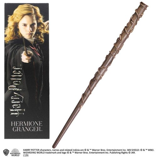 Hermione Granger PVC Wand and Prismatic Bookmark by The Noble Collection