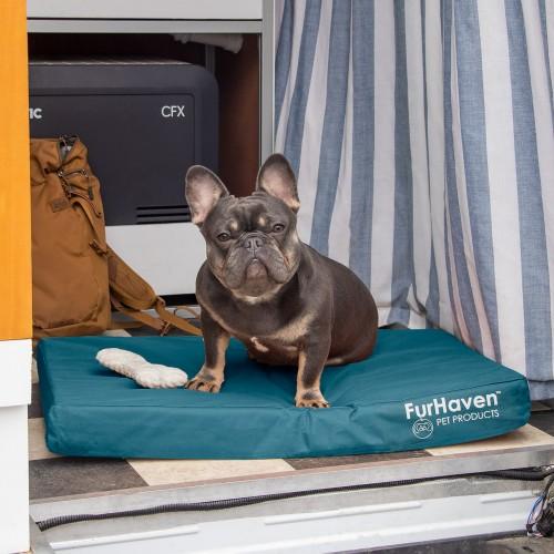 FurHaven Deluxe Cooling Gel Oxford Indoor/Outdoor Pet Bed for Dogs & Cats