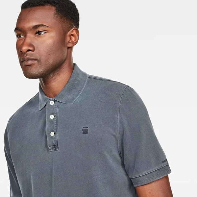 G-Star Raw Men's Halite Polo Shirt Navy Size Medium