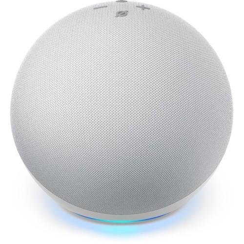 Amazon Echo Dot (4th Gen) Smart speaker and Alexa - Glacier White