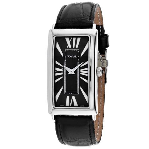 Jovial Men's Classic Black Dial Watch - 08036-MSL-04
