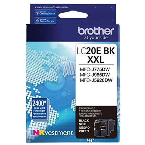 Brothers Brother LC20EBK Super High Yield Black Ink Cartridge