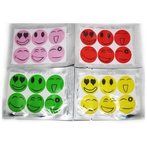 Mosquito Repellant Smiley Face Stickers