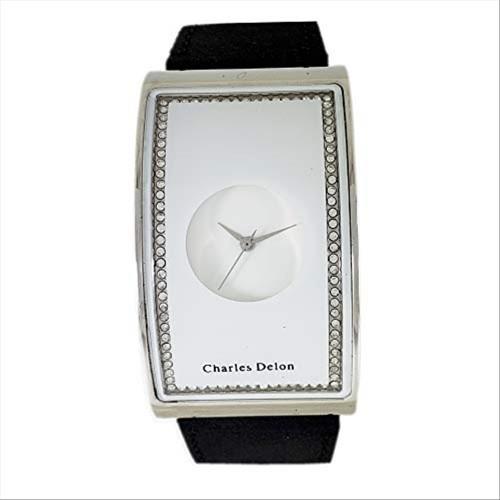 Charles Delon Women's Watches 4638 LPWB Black/Silver/White Leather Quartz Other