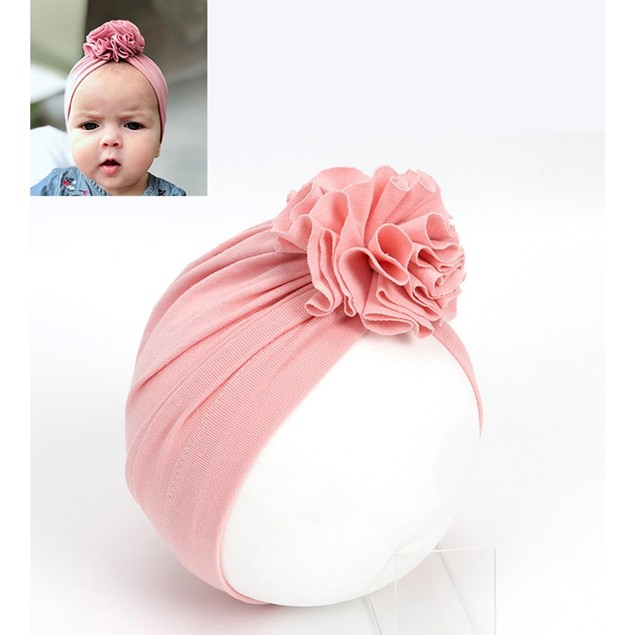 Multicolor Children's Pleated Flower Pullover Hat