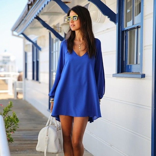 Chiffon Tunic with Slit Sleeves - 6 Colors (S-2X)