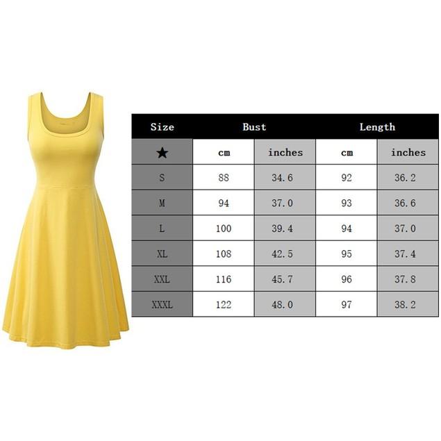 Women's Casual Scoop Neck Sleeveless Dress