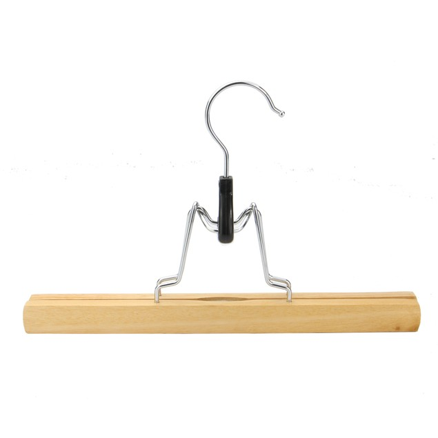 Bamboo Trousers Clamp Hangers - Set of 12 | MandW