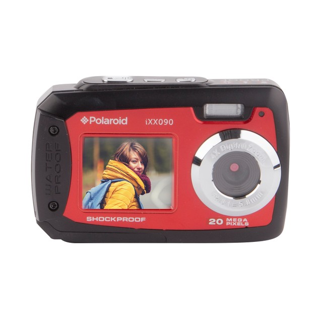Polaroid IXX090 Waterproof Digital Camera with Front Screen