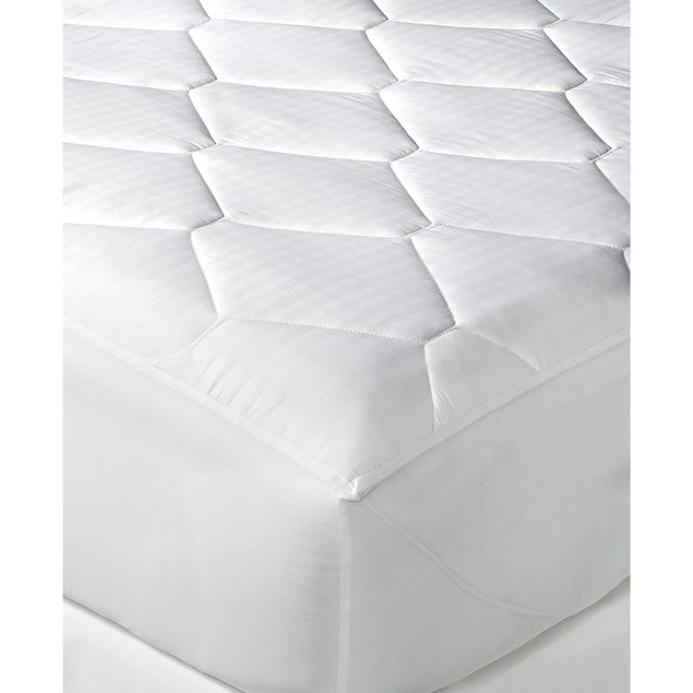 "Tommy Hilfiger Home Windowpane Full (54""x75"") Mattress Pad, White"