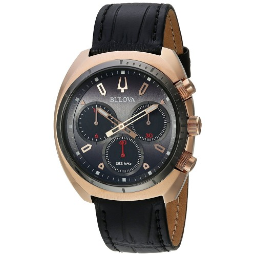 Bulova Men's Curv Grey Dial Watch - 98A156