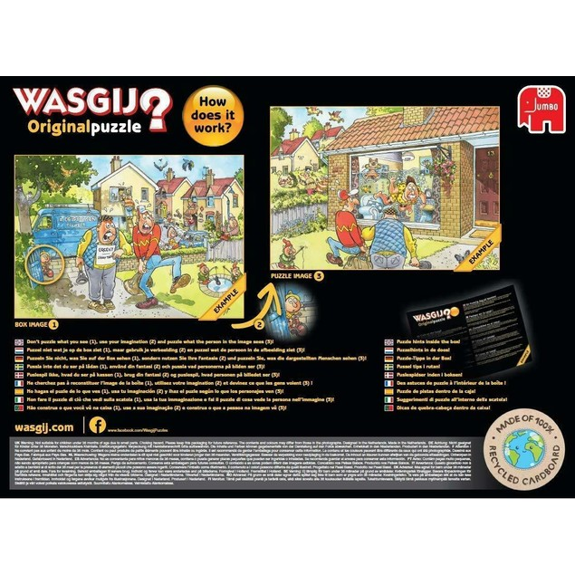 Jumbo Wasgij Original 33 - Calm on the Canal Jigsaw Puzzle - 1000 Pieces