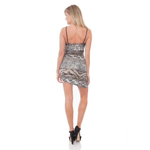 Snake Print Party Dress