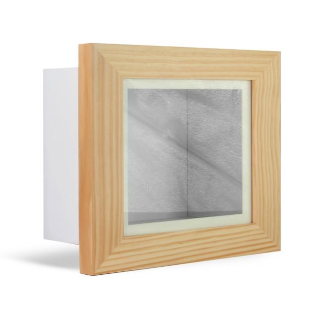 "3D Box Frame   MandW Oak 10"" x 8"""