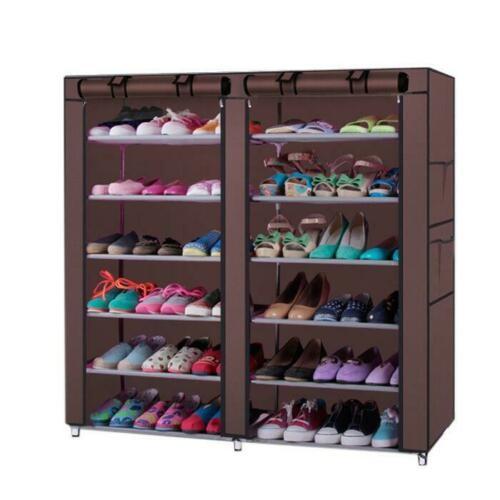 Shoe Rack Shelf Storage Closet Organizer Cabinet Portable 6 Layer Tier