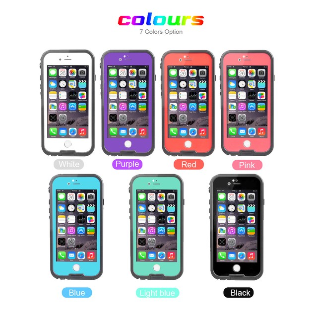 TRITINA Waterproof Case for iPhone 6 6s with Touch ID - protection,IP68