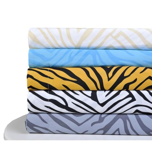 Duvet Cover Set With Pillow Shams, Microfiber, ANIMAL PRINT Design