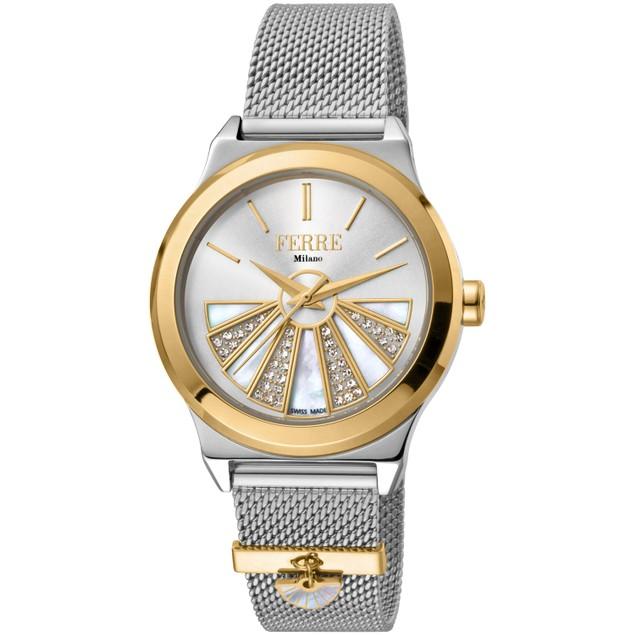 Ferre Milano Women's Classic Silver Dial Watch - FM1L125M0081