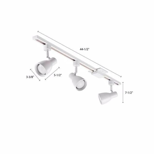 "Lithonia Lighting Step Baffle 44.5"" 3-Light Integrated LED Track Lighting,"