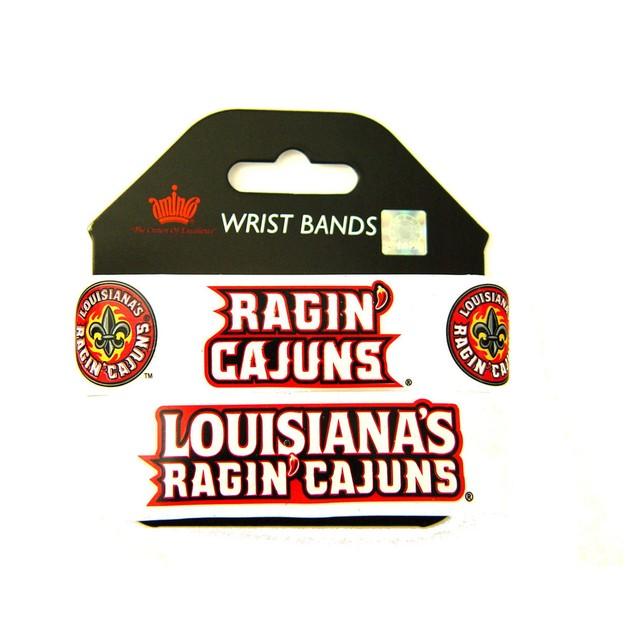 NCAA Louisana LAfayette Ragin Cajuns  Wrist Bands Bracelets  Set of 2