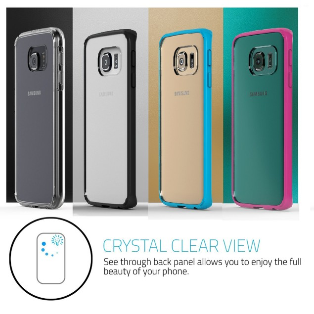 Stalion Clear Back Hybrid Fusion Bumper Case for Samsung Galaxy S6 Edge