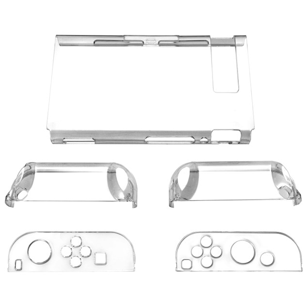 Nintendo Switch Case 3 Segment Design Transparent Clear Tablet Hard Case