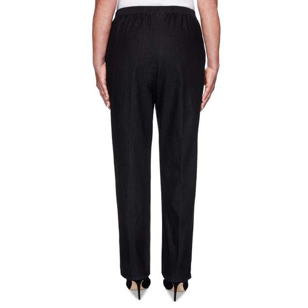 Alfred  Dunner Women's Petite Well Denim Pants Black Size 12