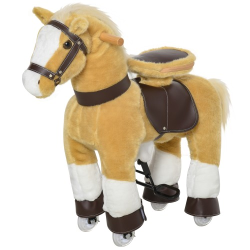 Indoor Children Fun Rocking Rolling Pony w/ Large Size for Kids 3-8 Years