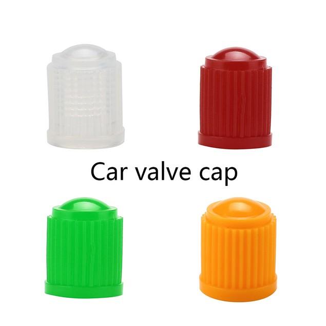 100pcs Plastic Auto Car Bike Motorcycle Truck wheel Tire Valve Stem Caps@1