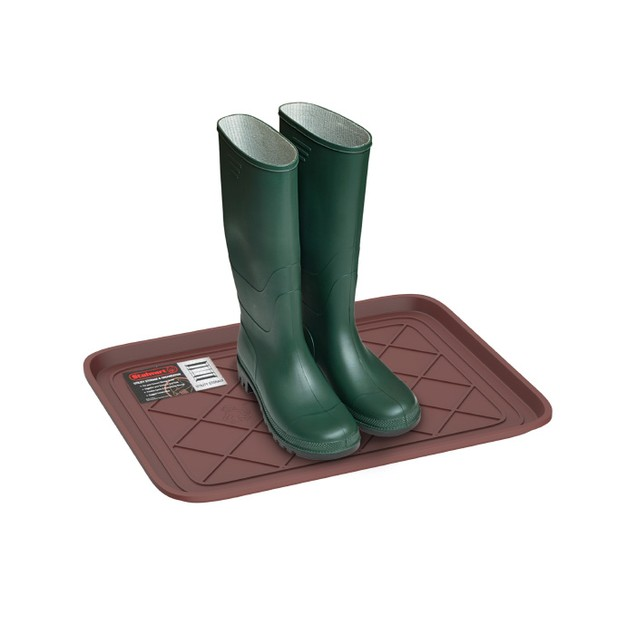 All Weather Boot Tray - Small Water Resistant Plastic Utility Shoe Mat