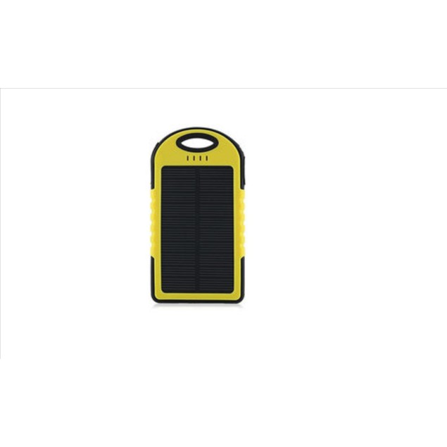 Water-Resistant Solar 5,000mAh Power Bank for Mobile Devices