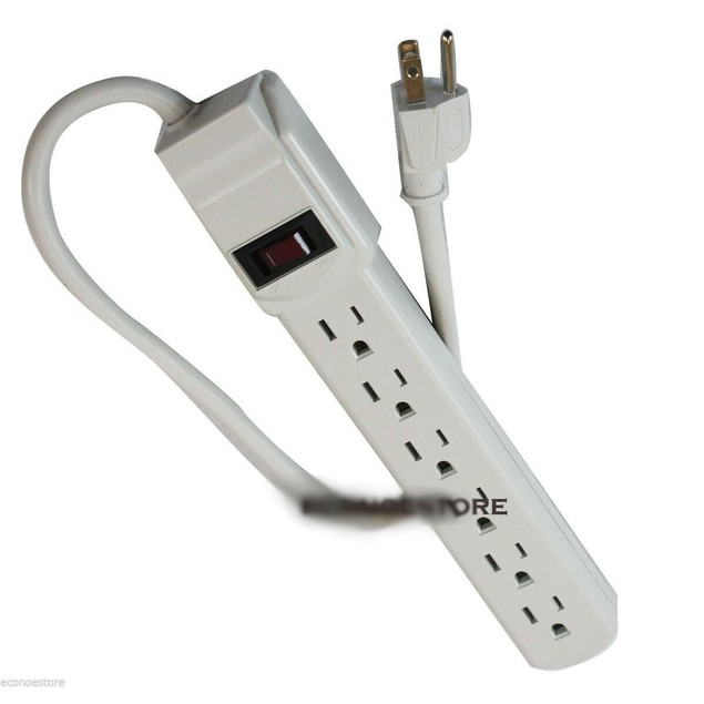 6 Outlet Power Strip Surge Protector 1.6 ft 14/3
