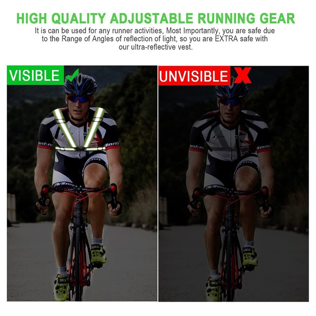 Outdoor Cycling Running Adjustable Breathable Waterproof Reflective vest