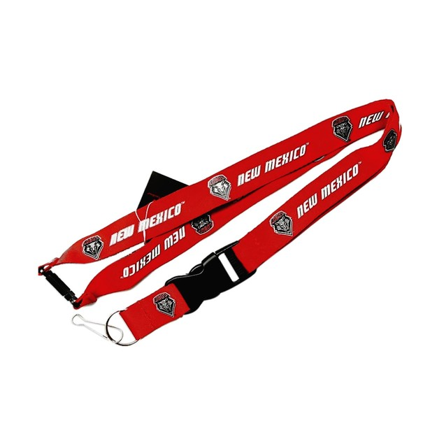 New Mexico Lobos Clip Lanyard Keychain Id Ticket - Red