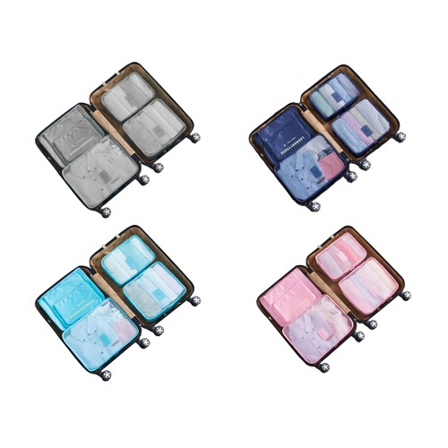 Travel Packing Cube set of 6- Navy, Pink, Gray or Blue