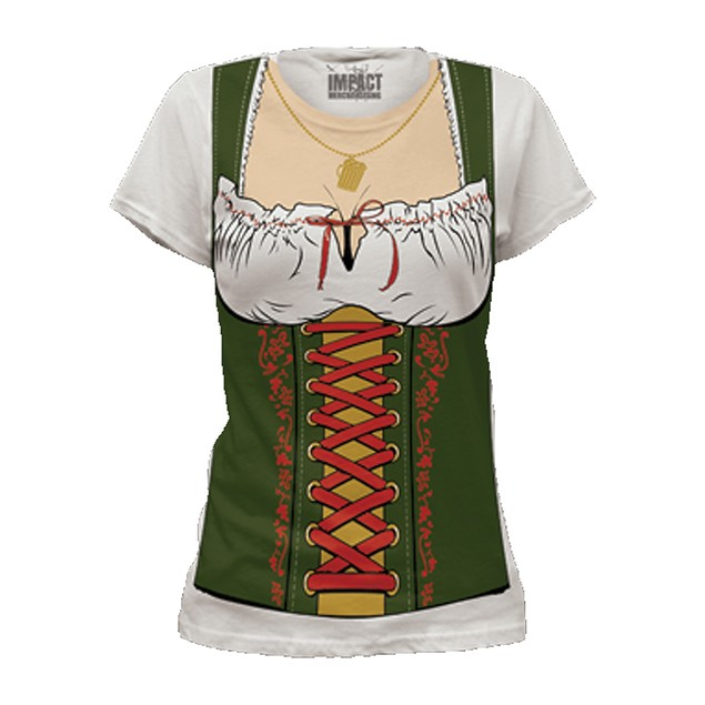 Fräulein Womens T-Shirt Costume Fraulein Octoberfest Oktoberfest Beer Adult