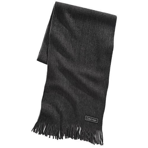 Calvin Klein Men's Raschel Knit Scarf Black Size Regular