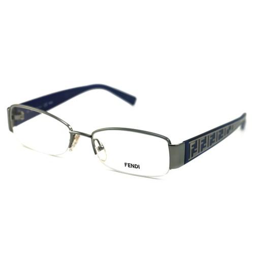 Fendi Women's Eyeglasses F984 467 Light Blue 53 17 130 Metal Semi Rimless