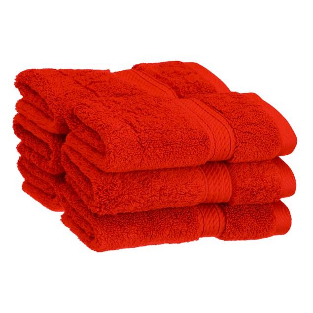 Solid Egyptian Cotton 6-Piece Face Towel Set