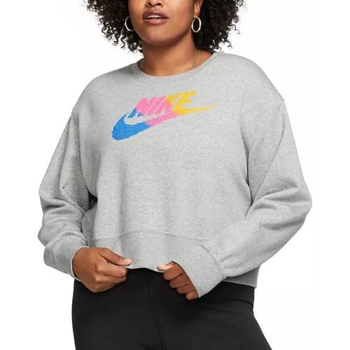 Nike Women's Plus Size Sportswear Fleece Crewneck Sweatshirt Gray Size 3X