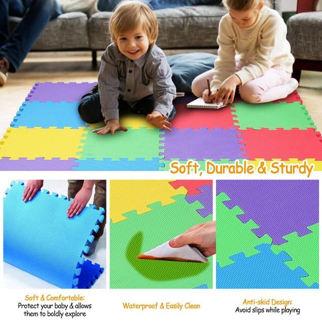 16Pcs Kids Puzzle Exercise Play Mat Interlocking