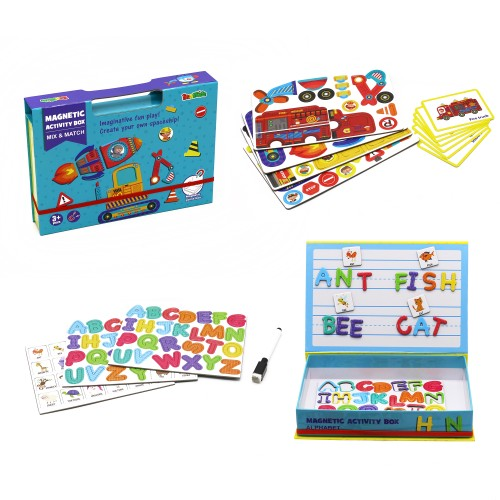 Zummy Educational Kids Creative Magnetic Play Alphabet ,Mix & Match Learning Toy