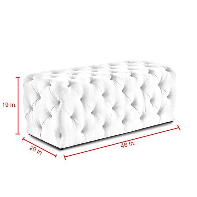 Velvet Bench-Allover Tufted|Modern & Contemporary Design|Inspired Home