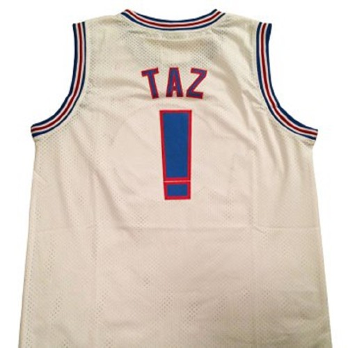 Taz #! Tune Squad White Basketball Jersey
