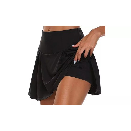 Women's High Waist Active Skirt with Built-in Shorts