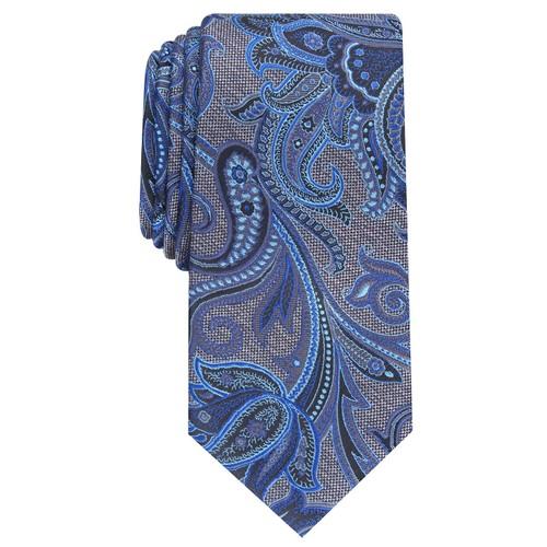 Perry Ellis Men's Carver Paisley Tie Blue Size Regular