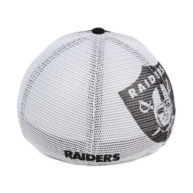Oakland Raiders NFL 47 Brand Mesh Closer Stretch Fitted Hat